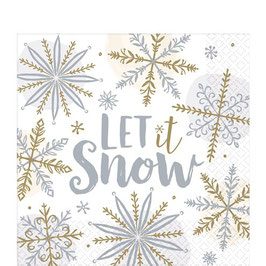 "Servietten ""Let it snow"""
