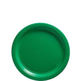 Grüne Pappteller, 8 Stk.