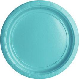 Blaue Pappteller, 20Stk.