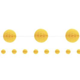 Gelbe Wabenball-Girlande