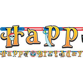 "Piraten Banner ""Happy Birthday"""