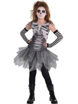 Skelett-Kleid Kostüm