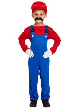 Roter Super Klempner Kostüm
