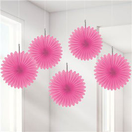 Pinke Papier-Fächer