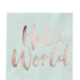 Hello World Servietten