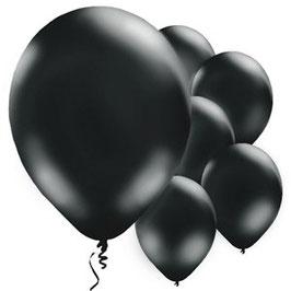 Schwarze Ballons, 10 Stk.
