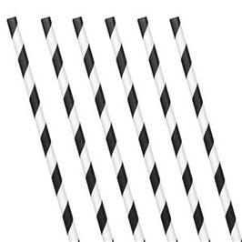 Schwarze Papierstrohhalme
