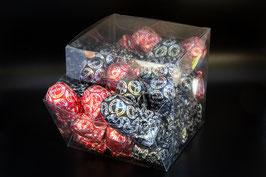 36 Herzige REWI-Minis im Würfel mit heller und dunkler Schokolade