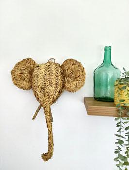 Cabeza elefante esparto | pequeña