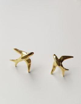 Pendientes golondrinas gold