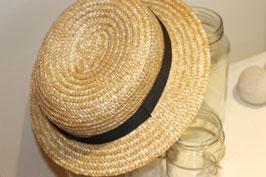 Sombrero canotier copa baja