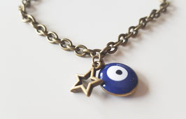 Pulsera ojo turco azul & star