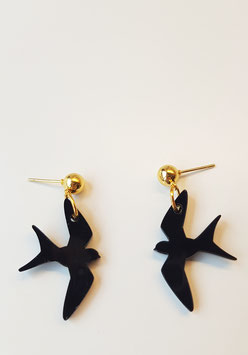 Pendientes golondrinas mini |  black