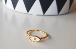 Anillo evil eye BLANCO