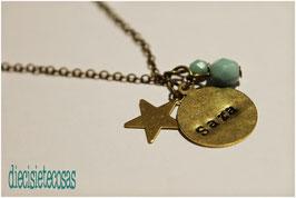 Collar chapa & estrella