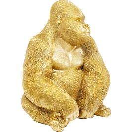 Deko Gorilla in Gold