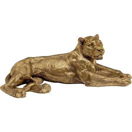 Deko Löwe Gold