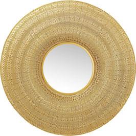 Spiegel Goldfarben Drahtgeflecht