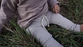 LEGGINGS | DUSTY PINK STRIPES