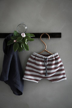 SWEAT SHORTS | BORDEAUX STRIPES