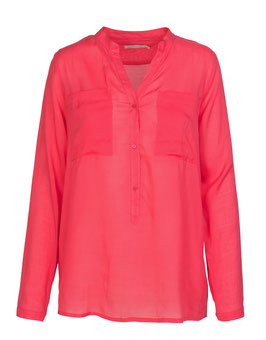 Bluse Nila Pocket hibiskus red
