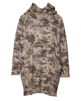 SWEAT KLEID CAMOUFLAGE GRAU SP05009261049