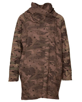 SWEAT KLEID CAMOUFLAGE BRAUN SP05009261049