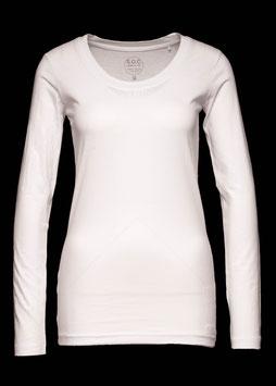 Damen Shirt Langarm weiß