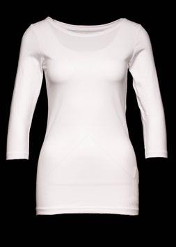 Damen Shirt 3/4 Arm mit Elasthan weiß