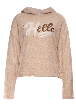 "SWEATSHIRT ""HELLO"" BEIGE SP05011220005"