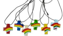 Anhänger Regenbogen-Kreuz