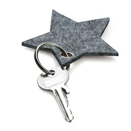 Filz-Schlüsselanhänger Stern