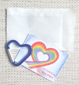 Geschenktütchen Herz (blau)