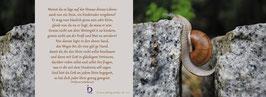 Pfarrkarte - Stein auf der Straße deines Lebens