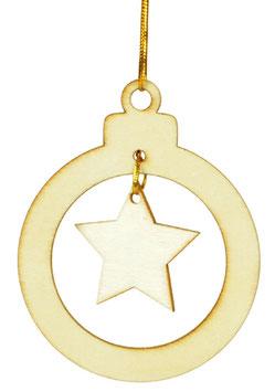 Anhänger Weihnachtskugel mit Stern