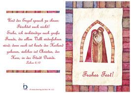 Pfarrkarte - Die heilige Familie - Frohes Fest!
