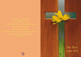 Pfarrkarte - Blumenkreuz
