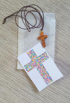 Geschenktütchen Kreuz  (aus Olivenholz)