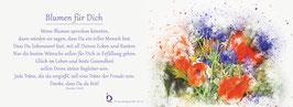 Pfarrkarte - Blumen für Dich