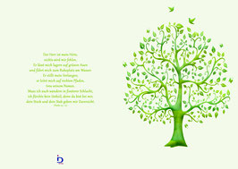 Schmuckblatt Lebensbaum