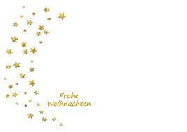 Umschlag - Frohe Weihnachten (Sterne)