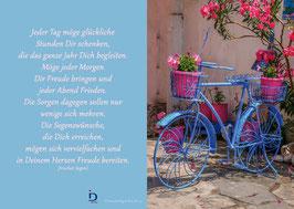 Pfarrkarte - Blaues Fahrrad