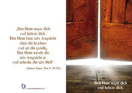 Pfarrkarte - Die Tür - Aarons Segen