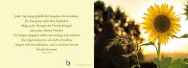 Pfarrkarte - Sonnenblume