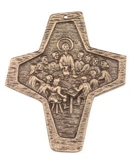 Bronzekreuz Abendmahl