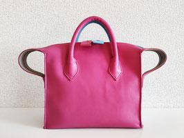 メルシーにゃん レザーバッグ(Pink & Blue)*ショルダー付き