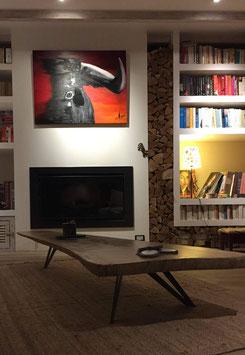 Pied de table basse DelYa H 25 cm  coloris Noir foncé mat texturé 9005Tex -