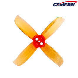 Hulkie Durable 2036 4 Blade (3 Holes) - clear orange