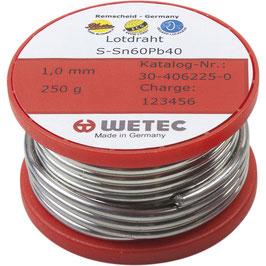 Elektrolötdraht SN60Pb40 flussmittelgefüllt ø 1 mm