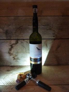Wijnstop en vacuümpomp in één